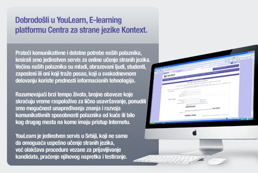 Škola stranih jezika Kontext - YouLearn, E-learning platforma